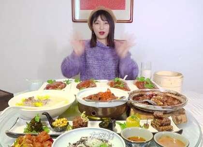 帝都美食游,烤鸭来伺候!竟被老北京豆汁儿KO?#大胃王朵一##吃秀##美食一朵朵#