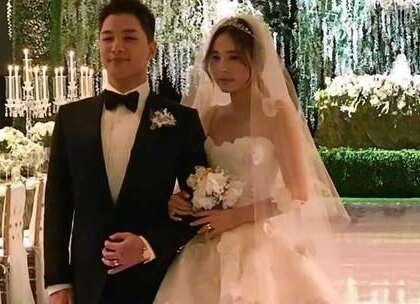 #在韩国超火的视频#太阳的婚礼目前能找到的就这么多了,保密工作做的太好了,哈哈#太阳#真的幸福到哭😘