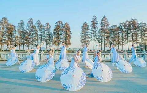 【单色舞蹈合集美拍】#古风#温柔伞舞舞一曲《#青花瓷#...