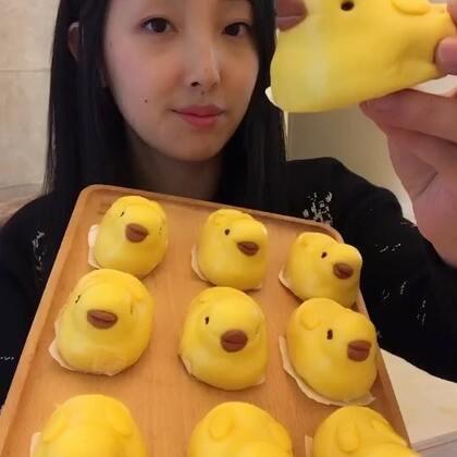#吃秀#连续爆头,可爱的小鸭子😁@美拍小助手