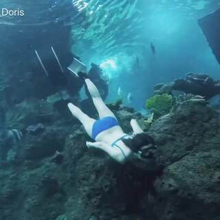 #自由潜水#🆕比基尼游的还是太丑