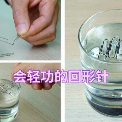 #手工#只需一个小动作,别说绣花针就连回形针也能水上漂#回形针##科学小实验#