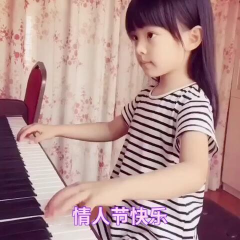 【小蓓蓓🌺美拍】#音乐##精选##钢琴#情人节快乐!...