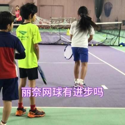 丽奈在练习打网球!有进步吗?小伙伴们@美拍小助手 #宝宝##运动##精选#