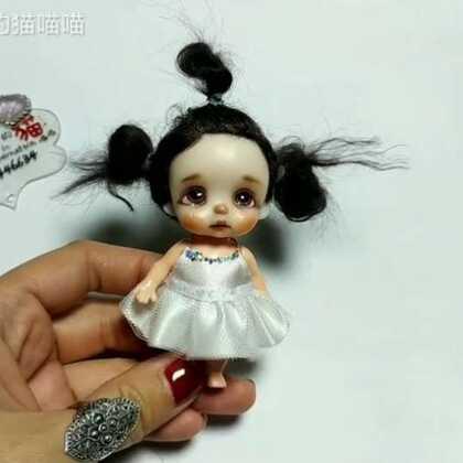 #自制娃衣##手工##迷糊娃娃#小可怜哭了好久麻麻可算给做新裙子了。看宝宝的新芭蕾舞裙。