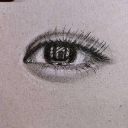#精选##素描##画眼睛#@美拍小助手 @小冰 无基础超简单眼睛你学会了吗?