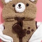 #手工##绒绒小熊马甲#绒绒小熊马甲马上就要完成啦😊还没有缝合纽扣😊接下来出这款了哈😊宝宝款成人款都可以的哈😊马甲主题的织法比较通用😊学会之后可以自己搭配颜色,织其它小动物款😊材料:绒绒线,五股牛奶棉,6.0mm竹环针1根,6.0mm木棒针1副,3.5mm钩针1根。纽扣😊制球器😊