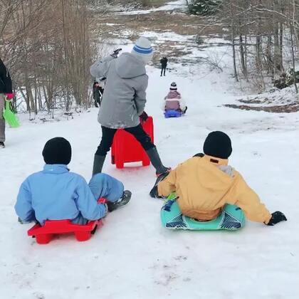 滑雪的乐趣😉主要是一群孩子在一起欢乐多多#海外生活##滑雪##法国混血三宝#