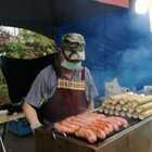 #美食##台灣古早味#看看原住民都賣啥來著。好大的香肠啊