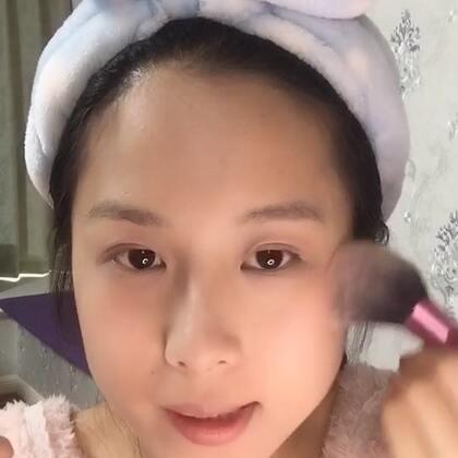 【化个妆】视频里只录了散粉和腮红部分~
