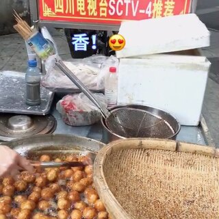 #美食##街边小吃#😘糖油果子🤣