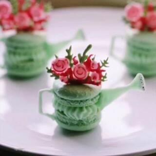 #爱的甜品店##美食#Watering Can Macs❤️#花朵#