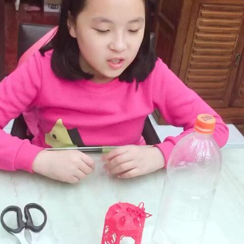自制塑料瓶花灯