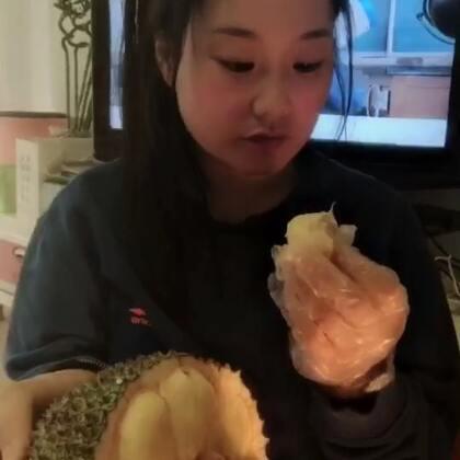 #吃榴莲蜜#喜欢吃榴莲和菠萝蜜的宝宝可以试下[奸笑]味道独特口感甜软糯我感觉更像是在吃棉花糖[坏笑]