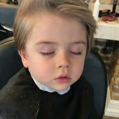 #宝宝理发记#爱睡着剪发的小正太😂#宝宝#