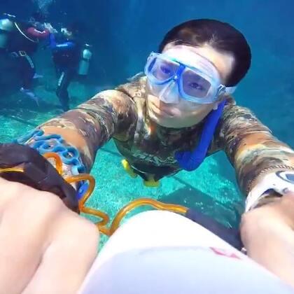 我是水下巡逻队的,请不要在水下闹事!😂