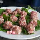 #美食##家常菜#买了两斤土猪肉,简简单单做锅圆子汤😍鲜!鲜!鲜!