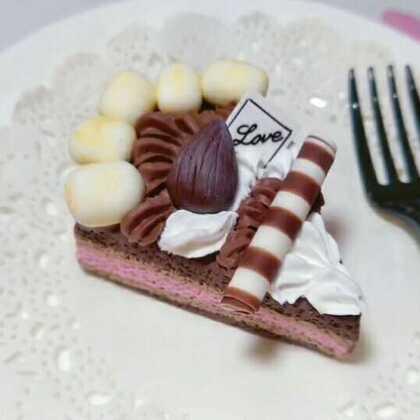 棉花糖巧克力蛋糕来个啵#手工#