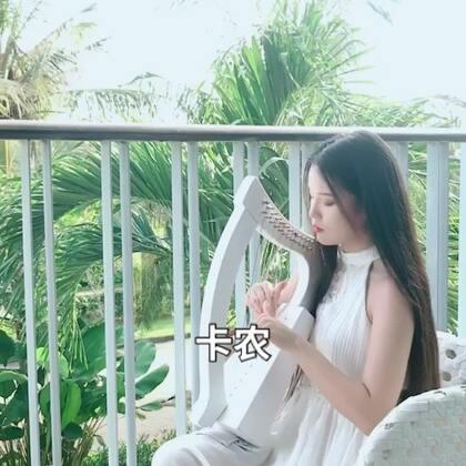 #精选##音乐##卡农#在巴厘岛酒店用小竖琴弹的卡农~