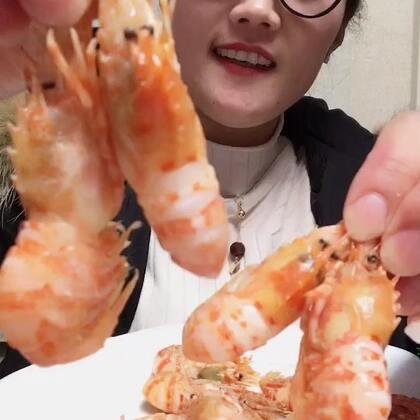 #吃秀##我要上热门##我要上热门@美拍小助手#火龙虾,这个视频我要少说,好好品尝这Q弹鲜甜的虾🦐儿😍😊😍😍😍😍