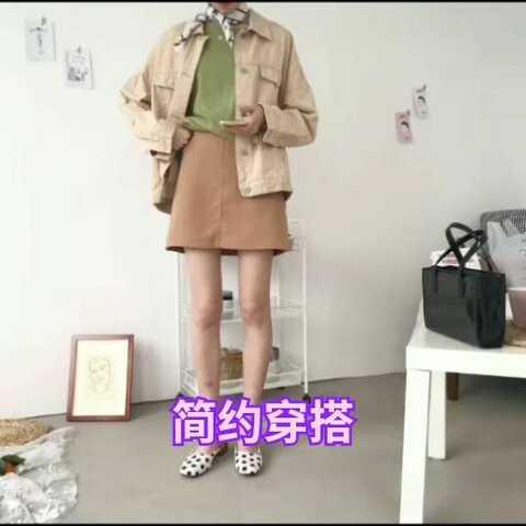 #佛系衣服#越容易的视频越简单搭配处范儿#精中山少女微图片
