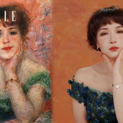 还原度超高!美妆博主小猪姐姐 ,挑战雷诺阿名画《女演员沙玛丽》仿妆!作为中国美院油画系研究生,她还会分享独特的#美妆#技巧。从真小猪到名画中的少女,简直美酥了!#化妆教程##仿妆#