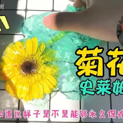😈😨嘿!打扰了我是一朵菊花😆😈菊花史莱姆戳起来都很害羞~🐳🐳贼可爱#手工##史莱姆##搞笑#