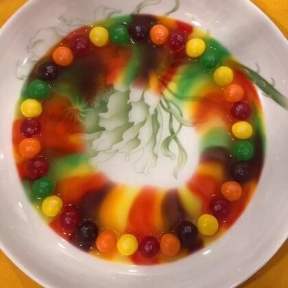 #彩虹糖实验##彩虹糖##精选#彩虹🌈