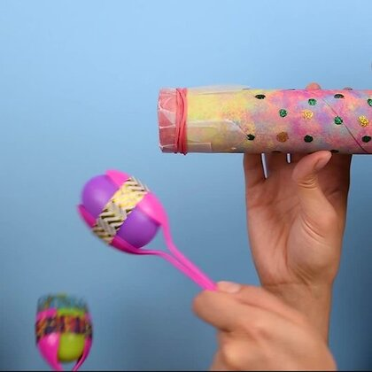 美好的周末来了,童心大发的机智君做了个整蛊小玩具,一起回到梦中的童年吧🚀🚀#手工##我要上热门##机智日记#