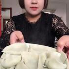 #吃秀#今天包了芹菜鸡蛋虾仁馅的大饺子,个大又好吃😂😂😂