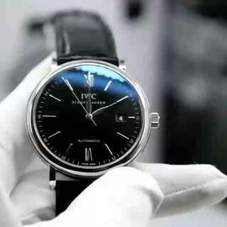 Mk出品万国波涛菲诺~黑面 40mm直径 2892超薄自动机械机芯 一比一正品开模 蓝宝石镀膜 正装经典简约腕表