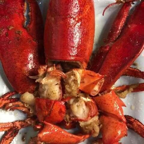 【我爱吃海鲜丹儿❤美拍】椒盐大龙虾,龙虾最简单的做法!...
