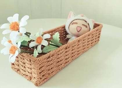 用手工纸就能做的小雏菊,非常小清新,用来装饰房间超级漂亮哦,BGM:Sunset Journey,#手工##diy##折纸#