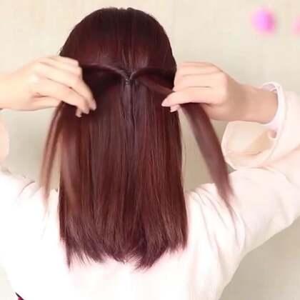 【搭配汉服的发型】这两束头发的发量很重要!决定了最后配搭发饰的美观度!#美妆##汉服发型##汉服日常#