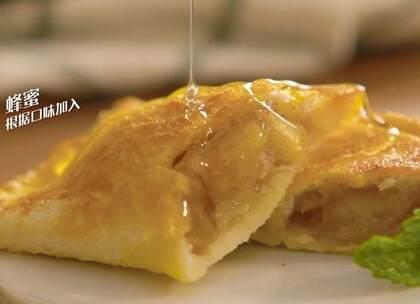 用吐司片就能做苹果派?一点也不输M记#美食#
