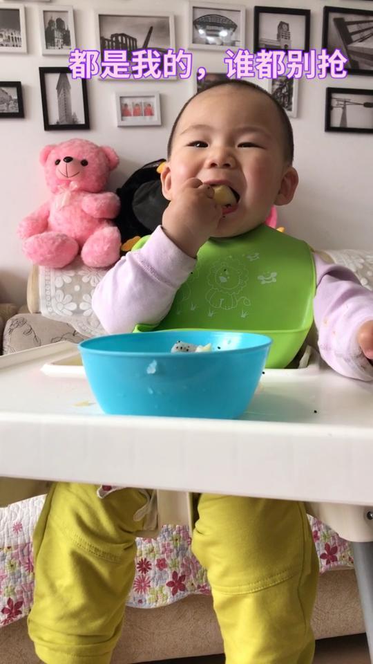 #第一次##宝宝吃水果##我要上热门@美拍小助手#你们要的日