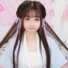 【幼金加萌站】不需要假发包的超简单古风发型教程#发型教程##汉服#