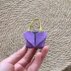 可爱的爱心手提包折纸,给自家的娃娃折一个吧!☺️☺️#手工#