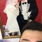 #吃秀#这结婚照还是我上初中时爸妈照着玩儿的,看来我是随他俩优点了,如此帅的我!