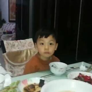 #宝宝##吃饭#今天我不在家,吃饭特别棒。