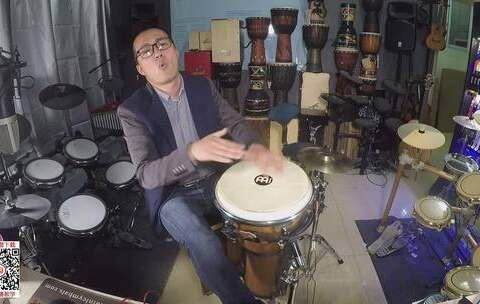 【凯文先生在路上美拍】#音乐##手鼓##非洲鼓# 凯文先生 ...