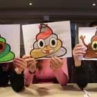 #热门#今天的涂色挑战是emoji表情,下期你们想看我们画什么?#搞笑#