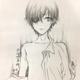 人物漫画的美拍:#快看画师.a人物的咬痕##洛逸动漫手绘日本漫画图片