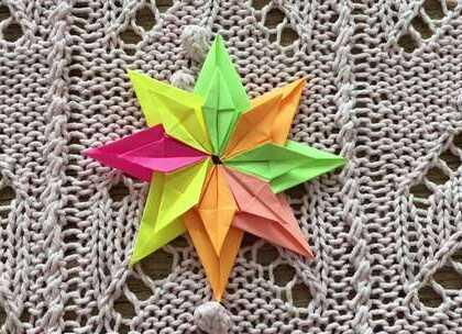 彩色组合飞镖折纸,非常喜欢折这种组合的折纸,简单的一个部件组合就能成为非常好看的一件作品,快来折一个试试看谁飞的比较远吧!#手工#