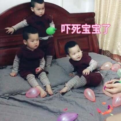 想要开开心心玩个气球好难🤯哪有那么坏的爸爸#宝宝#