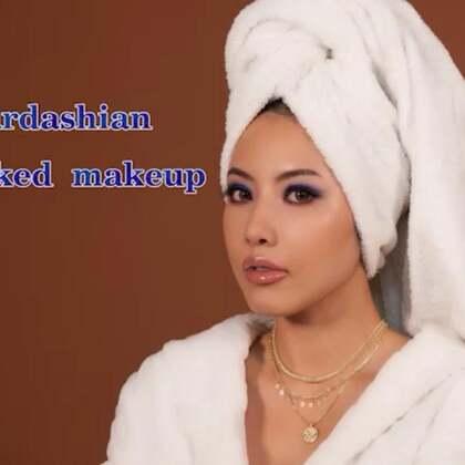 Kim Kardashian 蓝色烟熏眼妆#kimkardashian##欧美妆##包头巾造型#
