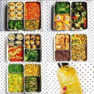 #完美的星期天#一周工作日素食便当打卡&减脂便当 最后有文字食谱#减脂餐##低脂餐#