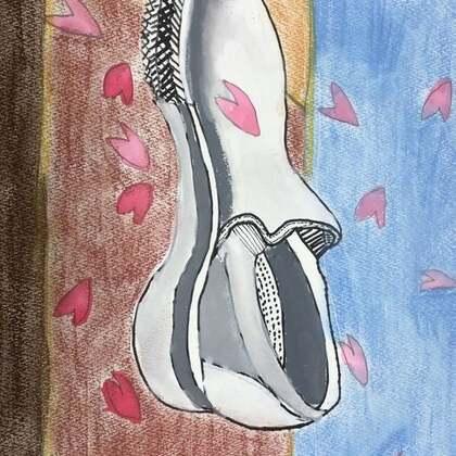 丽奈学绘画第二节课、第一幅图是丽奈的作品 😁接下来是丽奈的师姐们画的🌹丽奈还要继续努力呀💪@美拍小助手 @小慧姐在日本 #宝宝##精选##绘画#