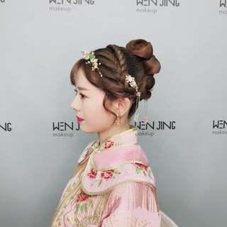 文静造型新娘v造型的美拍:新年好视频编织抽丝中短发怎么梳好看短发图片
