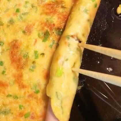 西红柿鸡蛋葱花饼这样做、不爱吃西红柿的丽奈超级喜欢吃😋@美拍小助手 @小慧姐在日本 #精选##美食##我的假期日记#